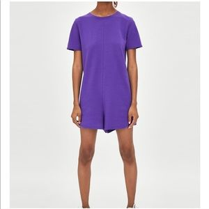 Zara purple romper